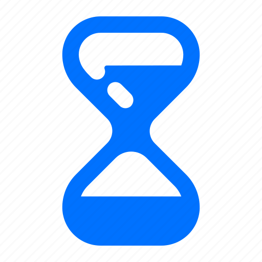 half, hourglass, stopwatch, timer icon