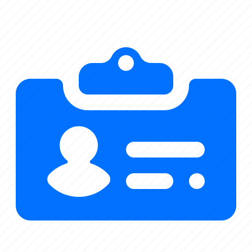 id, identification, tag icon