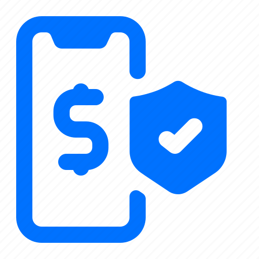 mobile, online, payment, security icon
