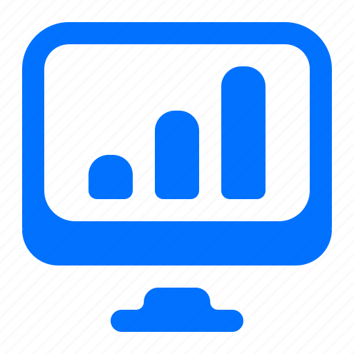 Computer, graph, monitor, online icon - Download on Iconfinder