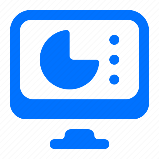 Chart, computer, monitor, pie icon - Download on Iconfinder