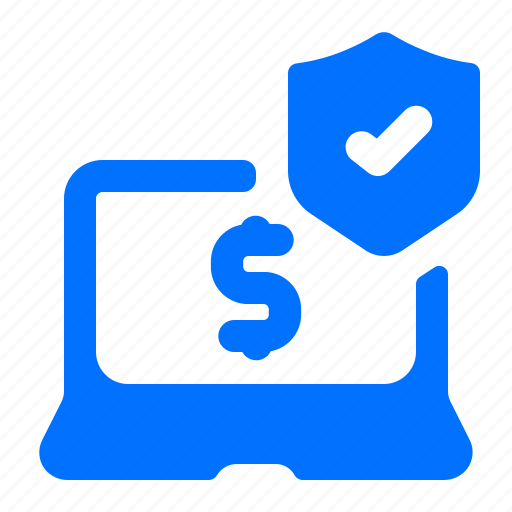 laptop, online, payment, security icon