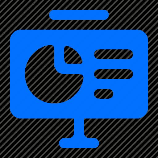 chart, graph, pie, presentation icon