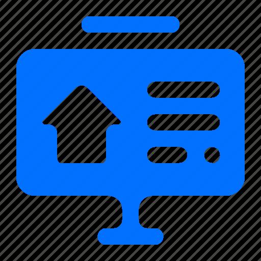 arrow, graph, presentation icon