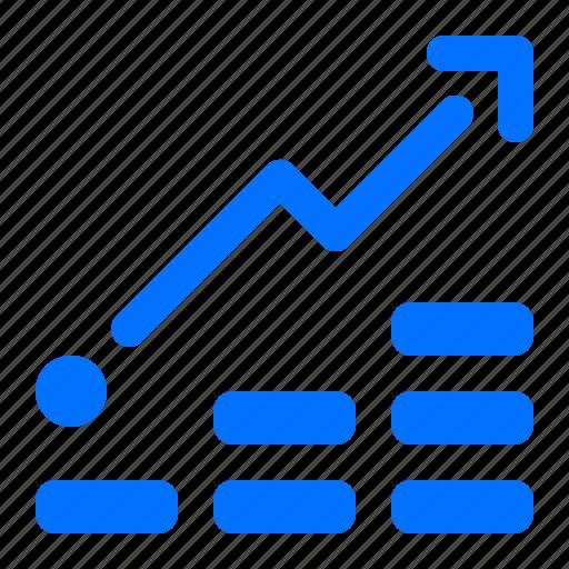 chart, graph, rise, statistics icon