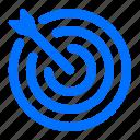 bullseye, arrow, target
