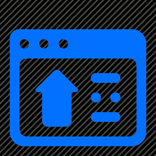 browser, upload, web, website icon