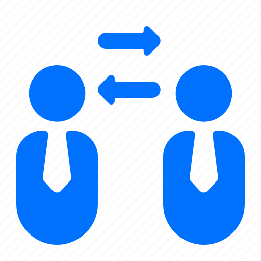 employee, exchange, person, transfer icon