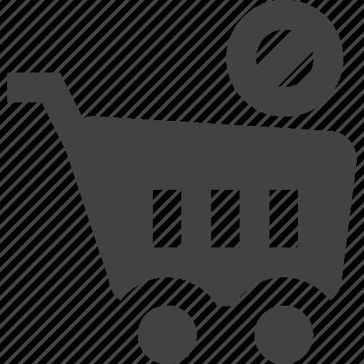 cart, checkout, deny, ecommerce, shopping icon