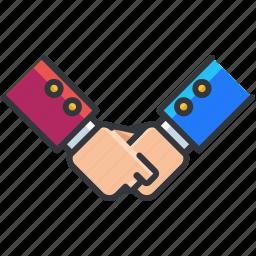 agreement, business, economic, handshake icon