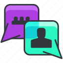 business, chat, conversation, economic, text icon