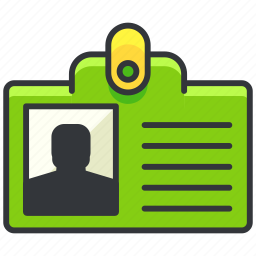 business, economic, employee, id, identification icon