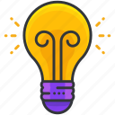 business, economic, idea, light, lightbulb, thought icon