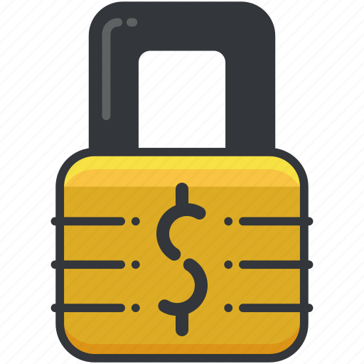 business, dollar, economic, lock, safety, security icon