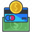 business, card, coin, credit, credit card, money, payment icon