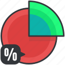 business, chart, economic, graph, pie icon