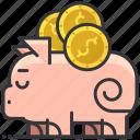 bank, business, dollar, economic, piggy, saving icon