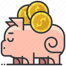bank, business, dollar, economic, piggy, saving icon