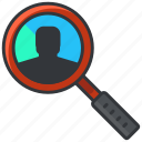 business, economic, find, magnifier, search icon