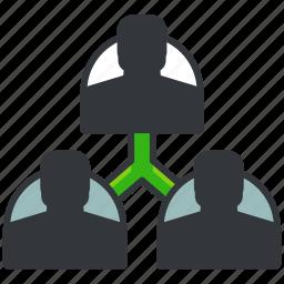 business, company, economic, share, team icon