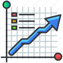 arrow, business, chart, economic, graph, statistics icon