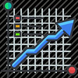arrow, business, chart, economic, graph, statistics icon