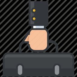 briefcase, business, economic, luggage, suitcase icon