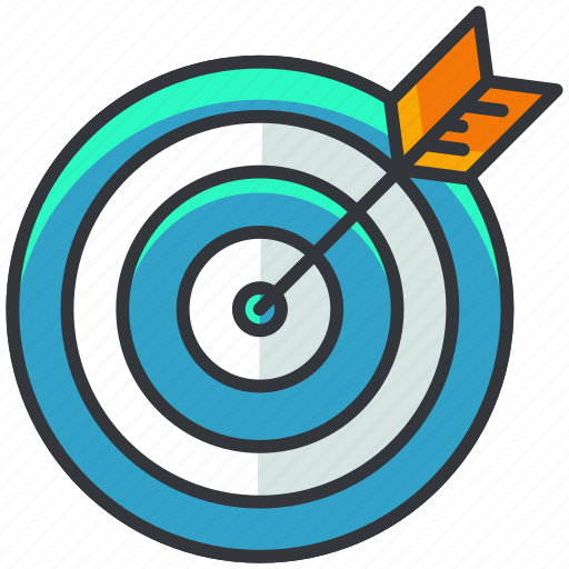 arrow, business, economic, target icon