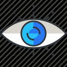 business, economic, eye, view, vision icon