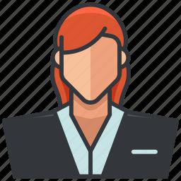 avatar, business, economic, employee, woman icon