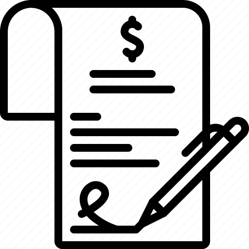 document, paper, sign, signature icon