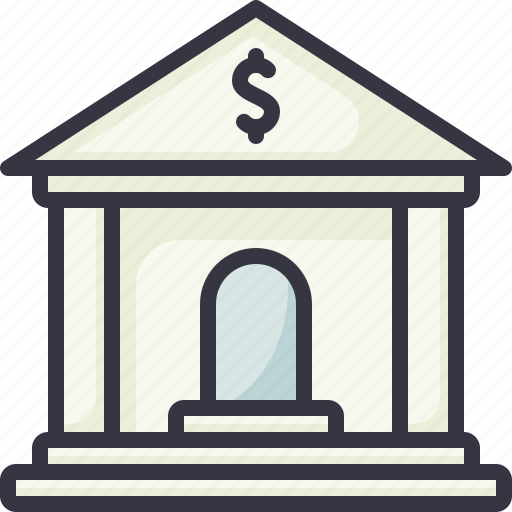 bank, building, loan, save icon