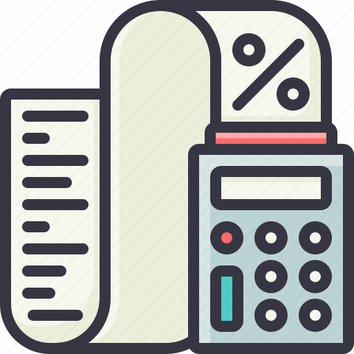 business, calculator, count, counting, tax icon
