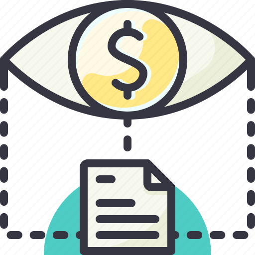 eye, money, opportunity, see icon