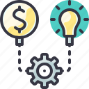 gear, generate, idea, solution icon