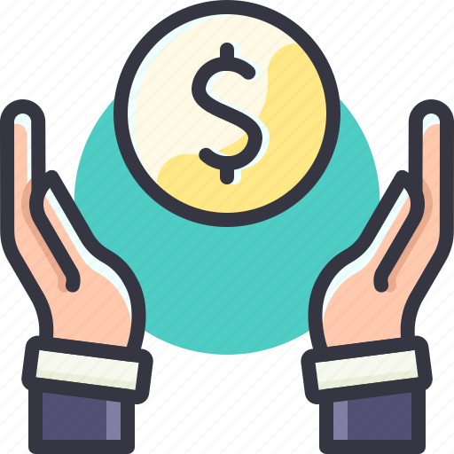 cash, coin, dollar, get, give, money icon