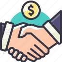agreement, hand, handshake, solution icon