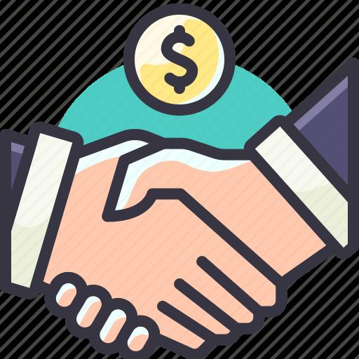 agreement, hand, handshake, solution icon