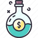 busines, idea, luck, money, potion icon