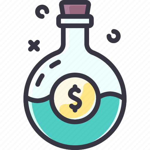 busines, idea, luck, money, potion icon