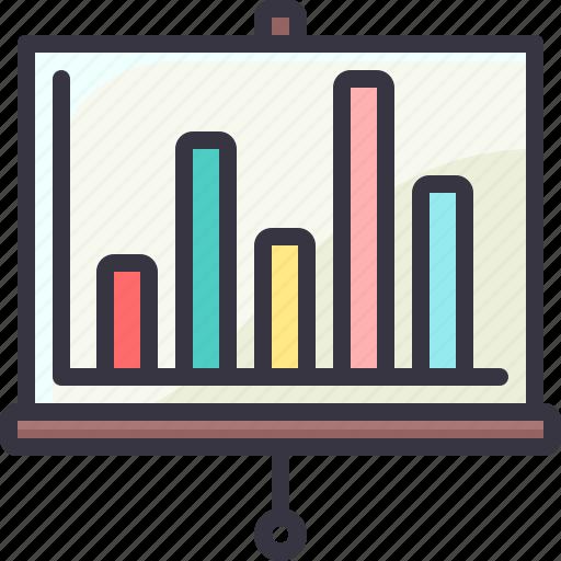 board, graph, presentation, statistic icon