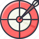 arrow, goal, reach, target icon