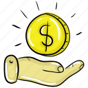 charity, guard money, investment, preserve money, save money icon