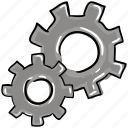 cogwheel, config, configurations, gears, settings icon