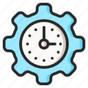 management, productivity, time, time management icon