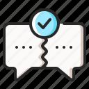 agreement, communication, feedback, meeting, negotiation, talk, talking