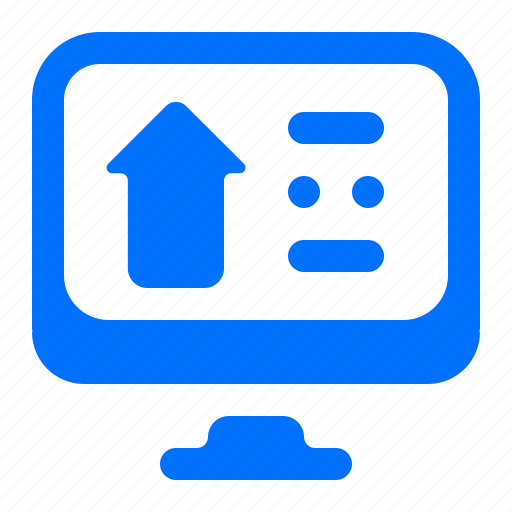 arrow, computer, monitor, up icon