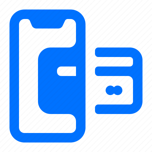 card, credit, mobile icon