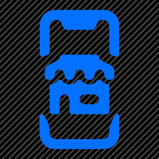 mobile, shop, smartphone, store icon