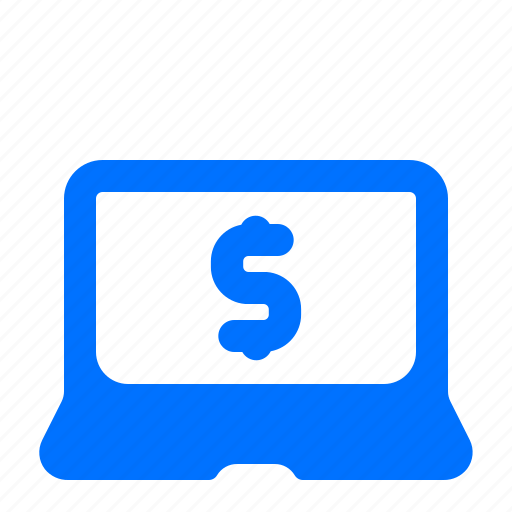 banking, laptop, online, payment icon